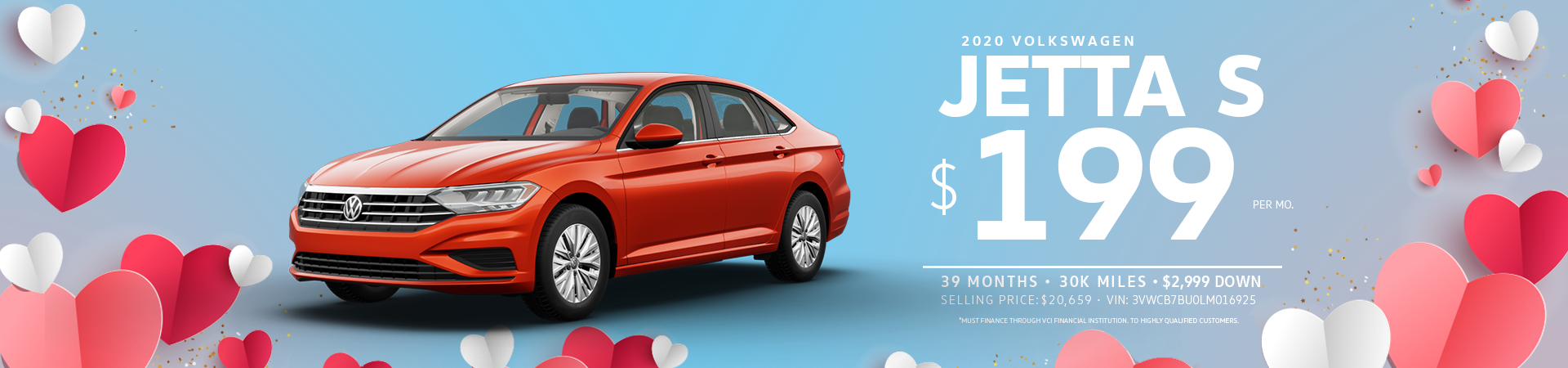 Lease a Jetta S for $199 a month
