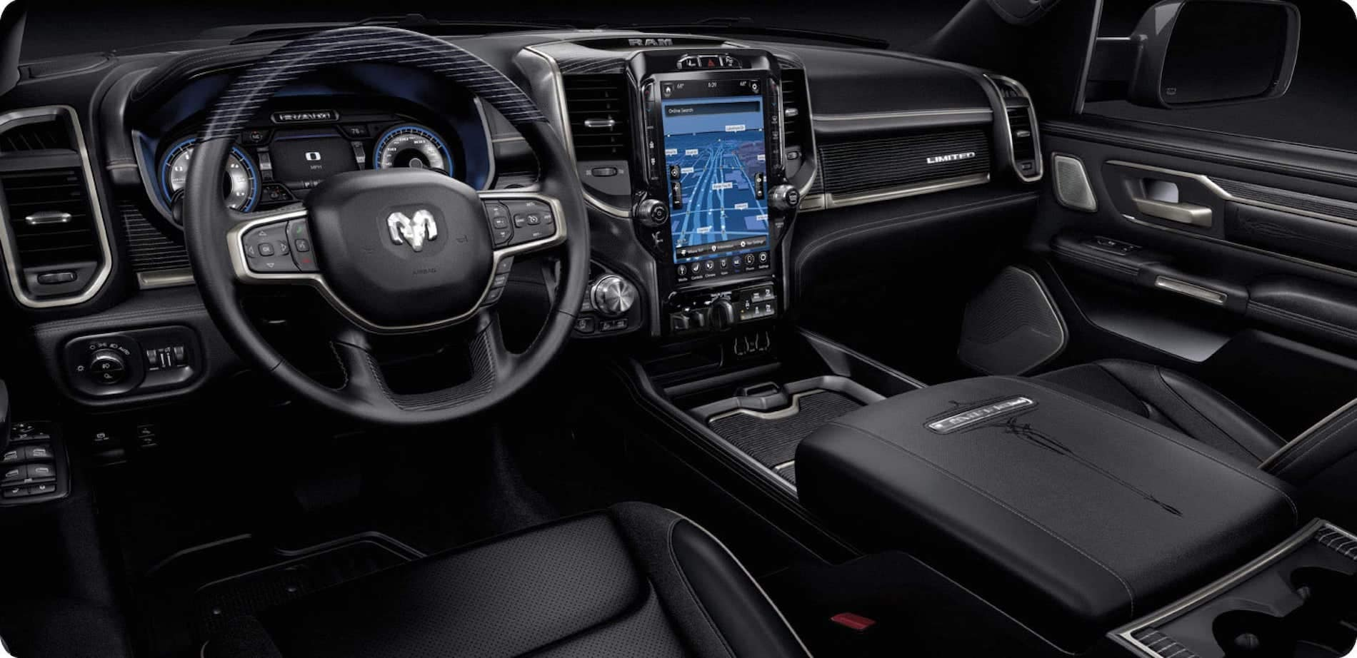 2021 Ram 1500 Interior Infotainment System available in Salisbury MD