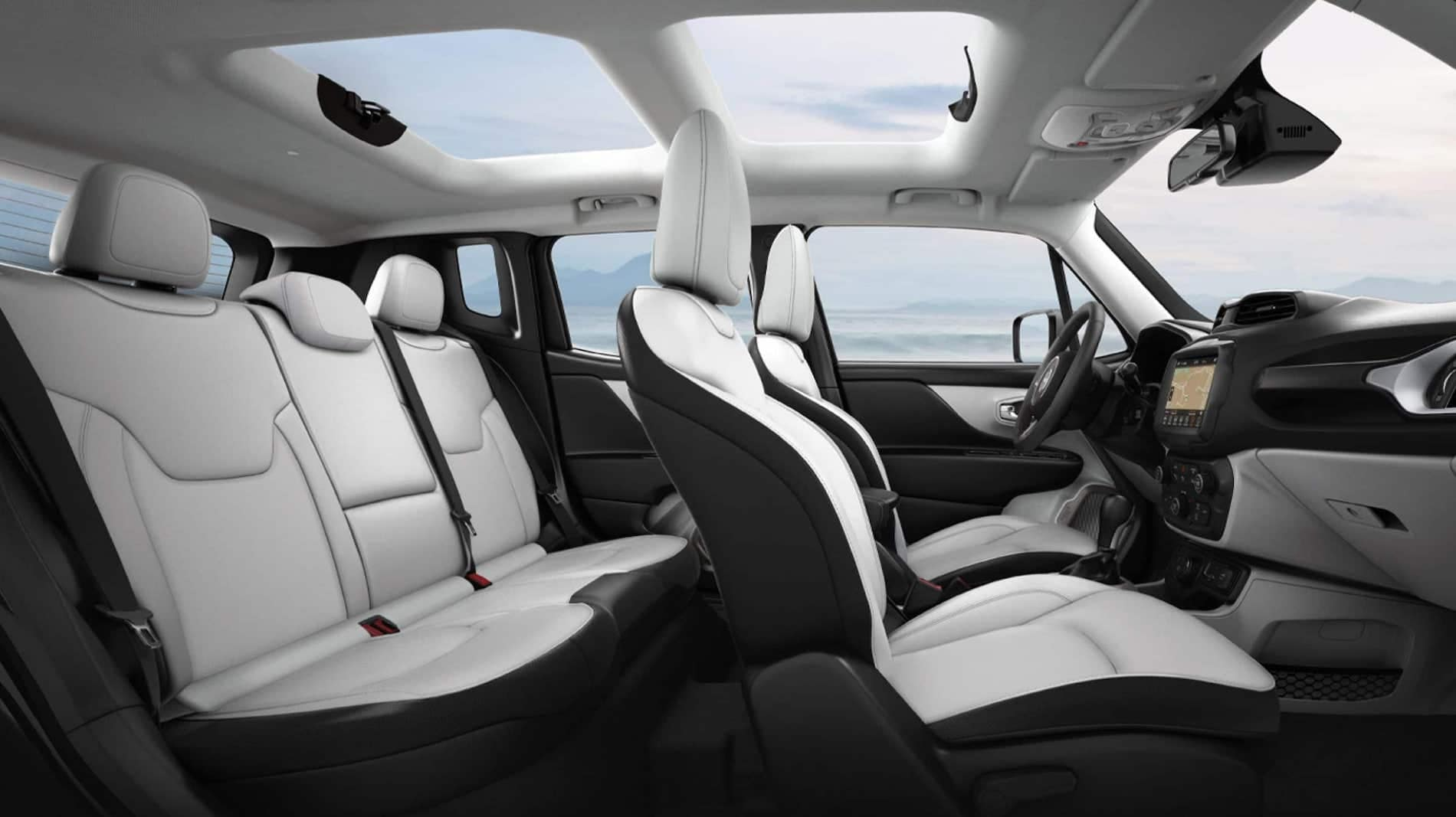 Jeep Renegade compact suv interior available in Salisbury MD