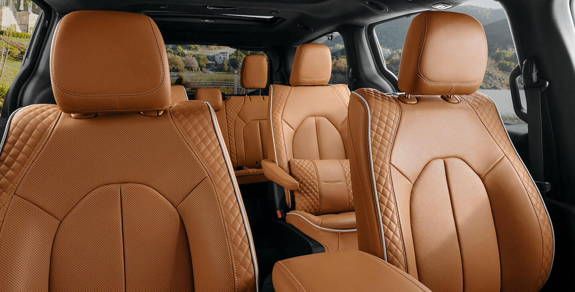 2021 Pacifica Brown leather interior in Salisbyry, MD