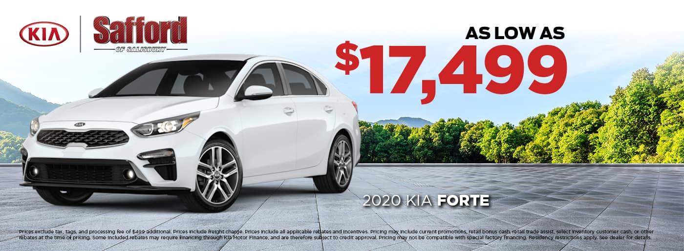 2020 Kia Forte Starting at $17,499
