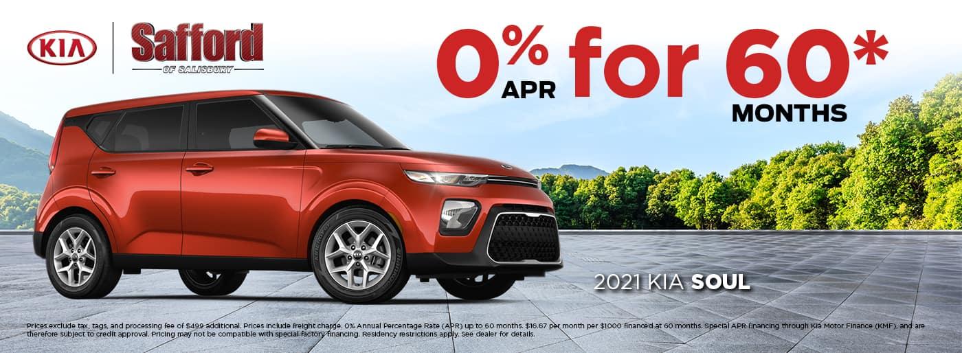 Finance 2021 Kia for 0% APR