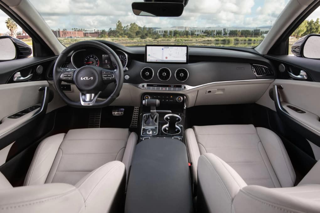 2022 Kia Stinger Interior Updates