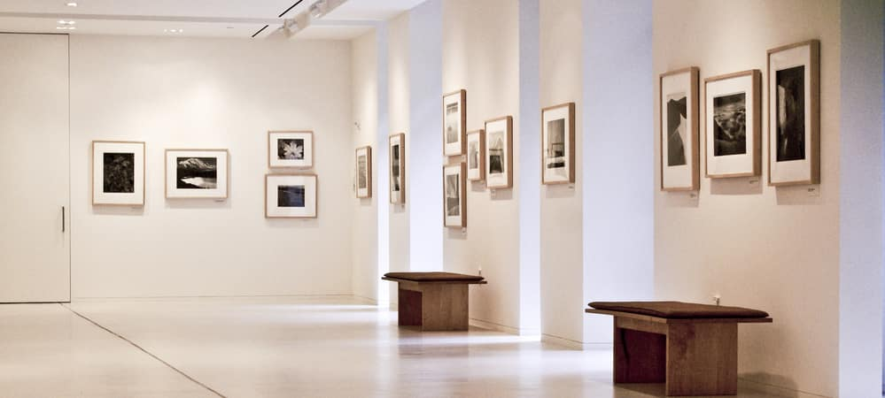 Interior of an art gallery