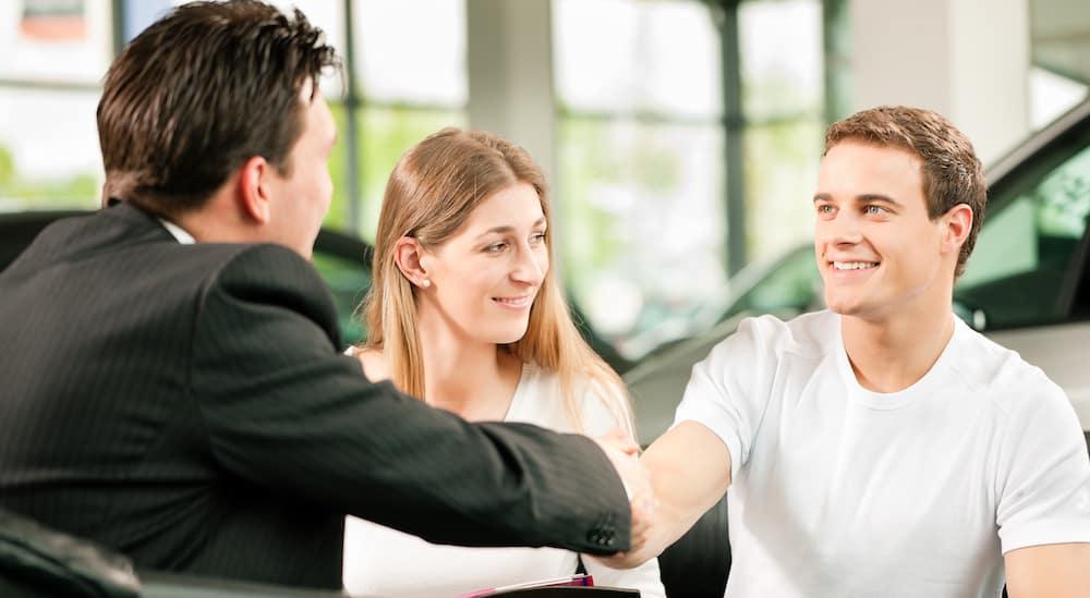 Couple Receiving Financing