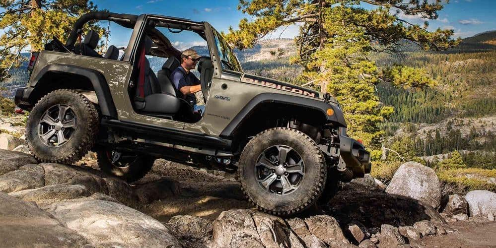 Jeep Rubicon on Rocks