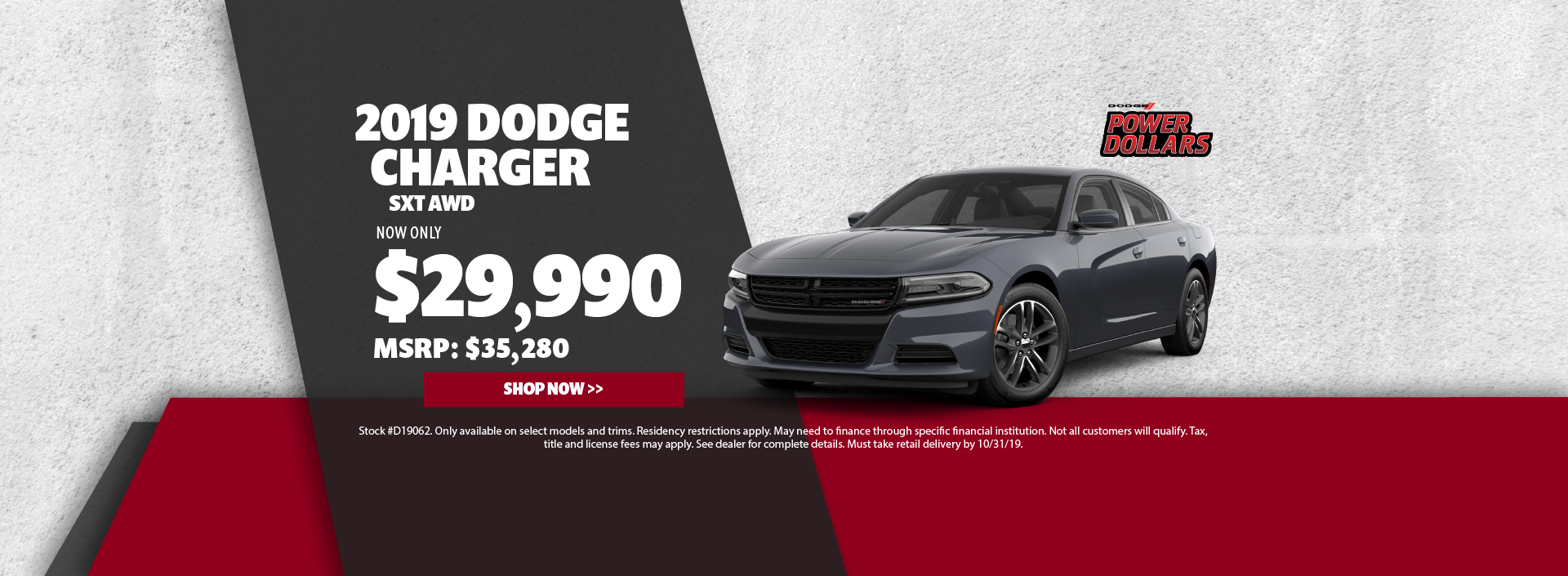 2019 Dodge Charger Offer
