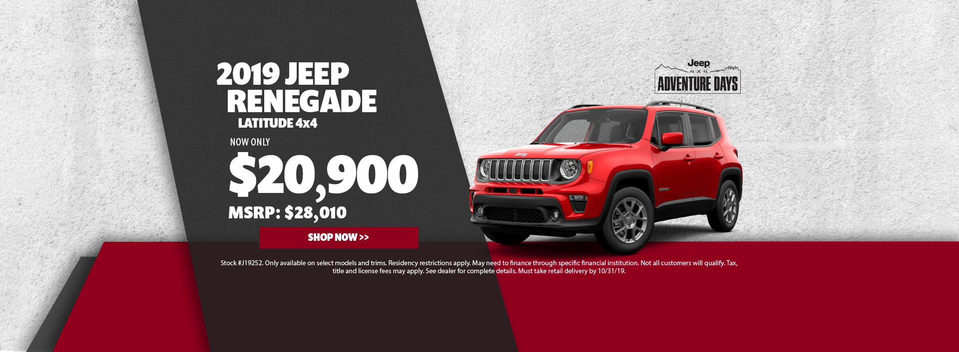 2019 Jeep Renegade Offer