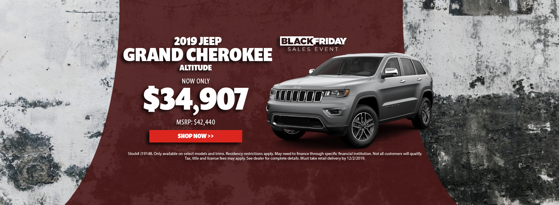 2019 Jeep Grand Cherokee Offer