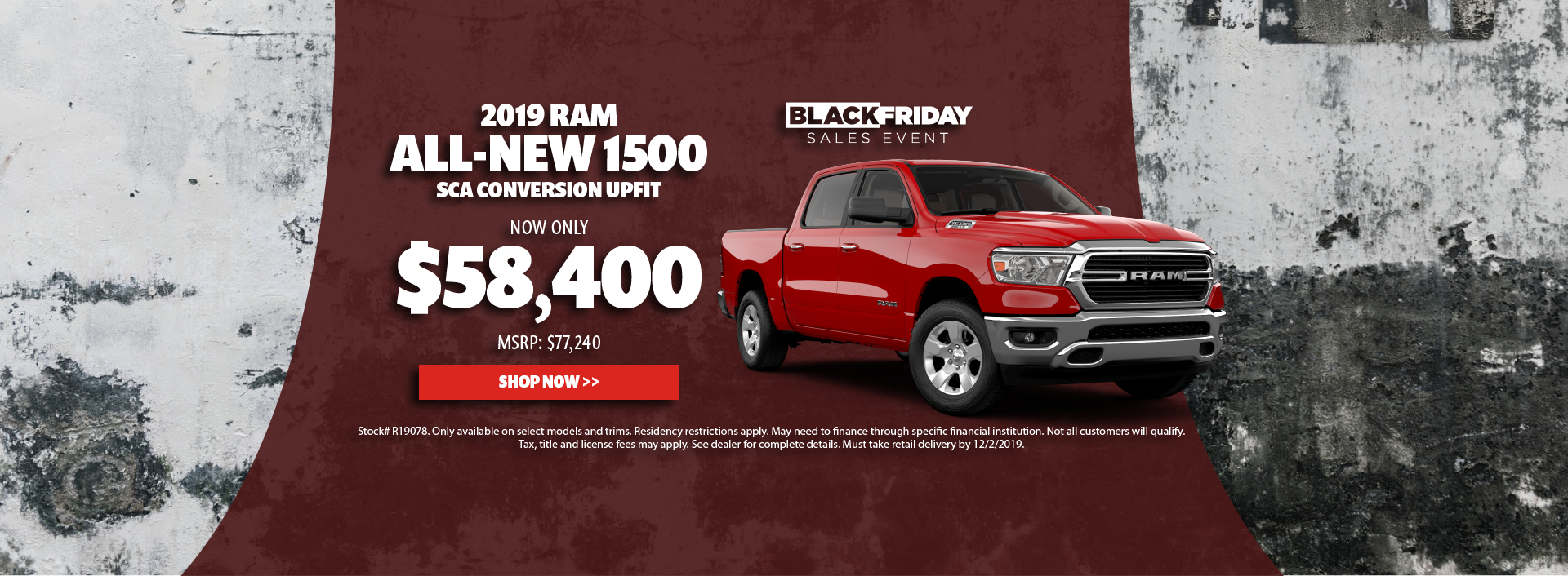 2019 Ram 1500 SCA Conversion Upfit Offer
