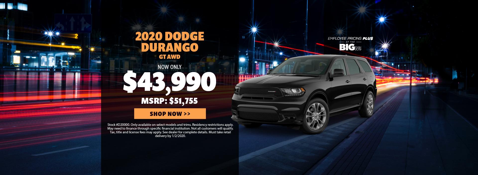 2020 Dodge Durango Offer