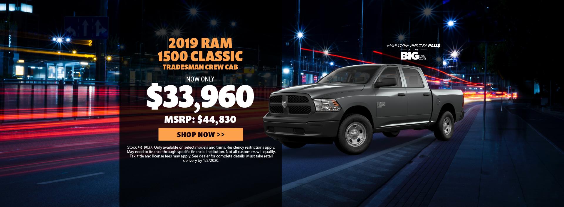 2019 Ram 1500 Classic Offer