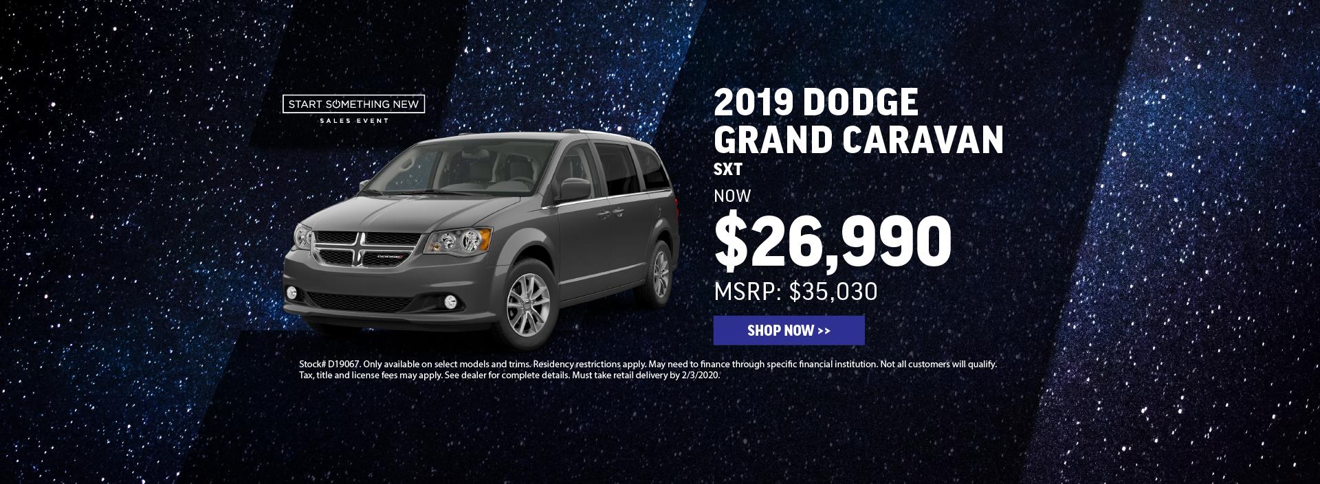 2019 Dodge Grand Caravan Offer