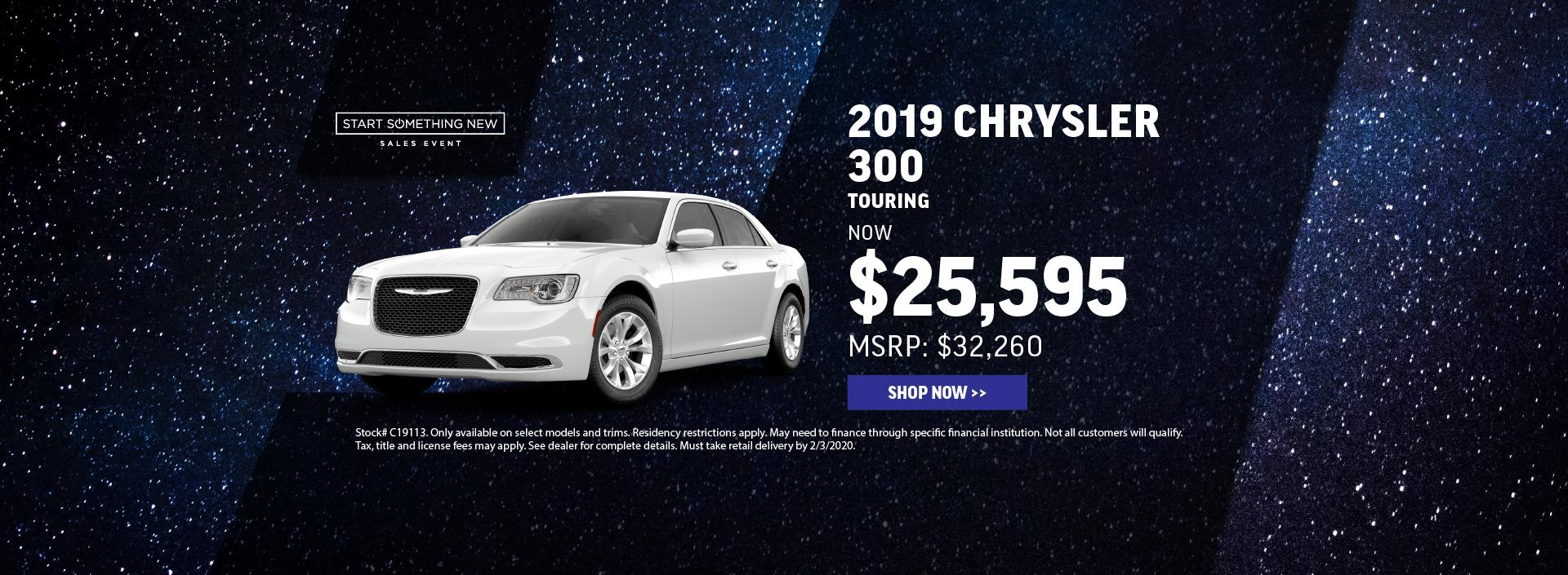 2019 Chrysler 300 Offer