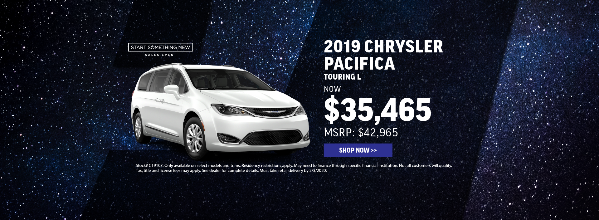 2019 Chrysler Pacifica Offer