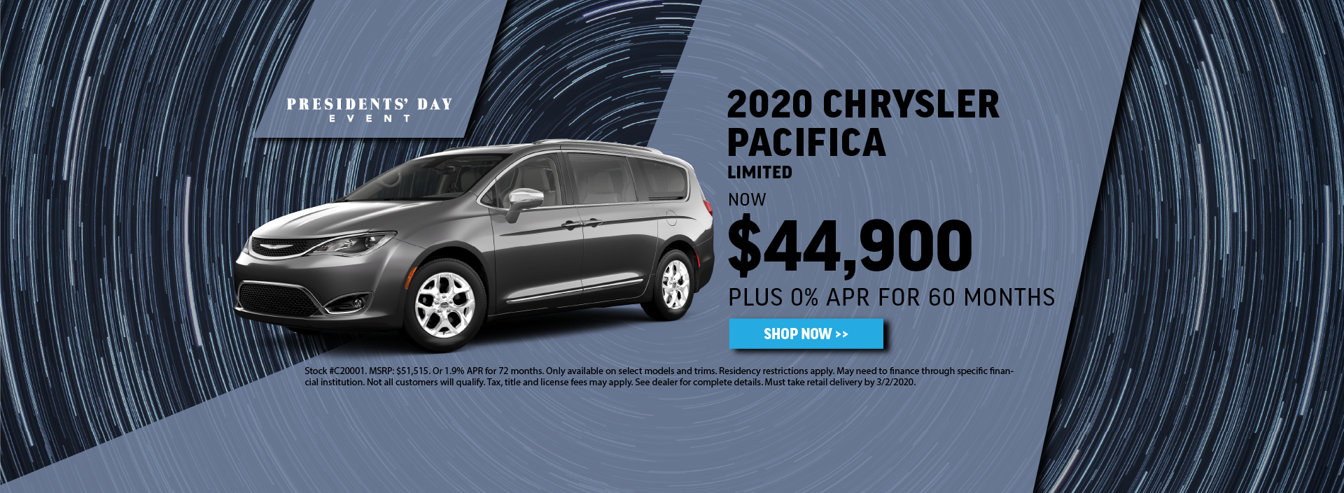 2020 Chrysler Pacifica Offer
