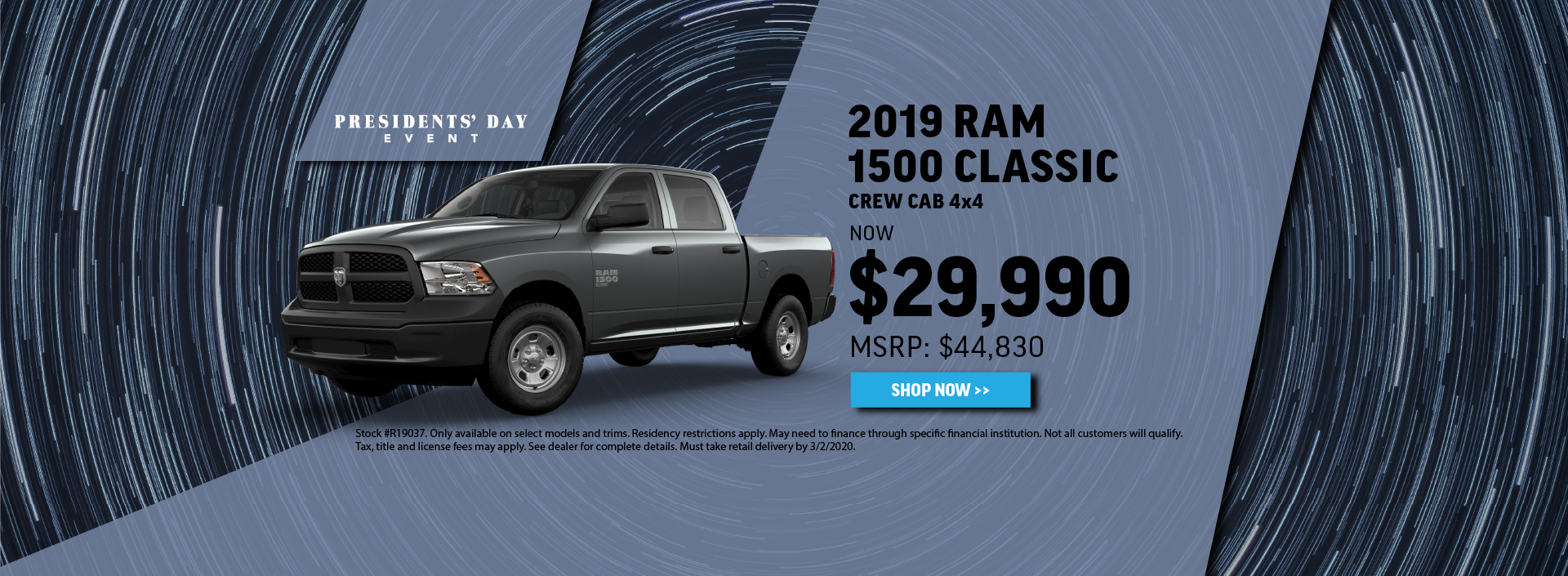 2019 Ram 1500 Classic Offer