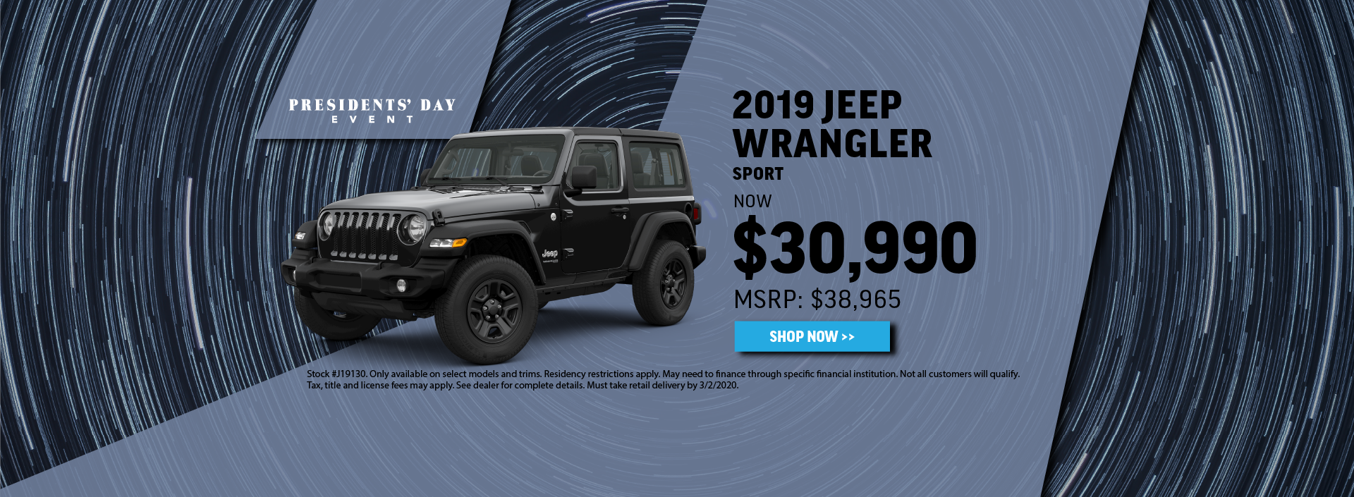 2019 Jeep Wrangler Offer