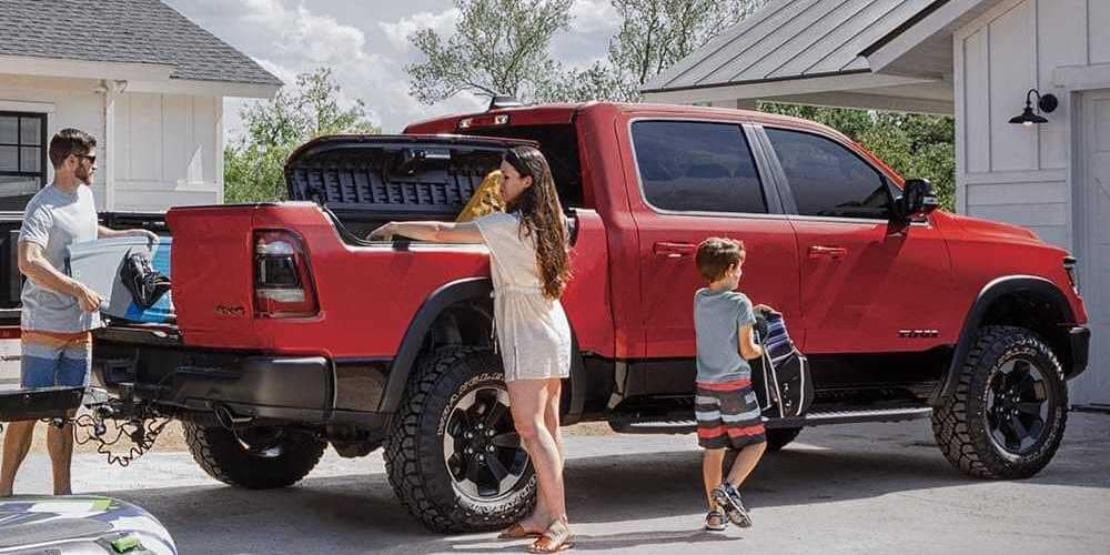 Family Loading Up RAM BOX and Truck Bed