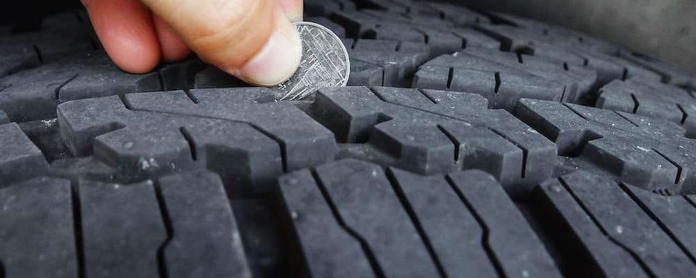 Coin in Tire