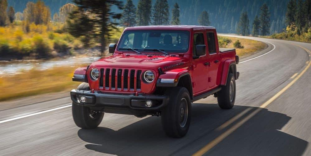 2020 Jeep Gladiator on Highway