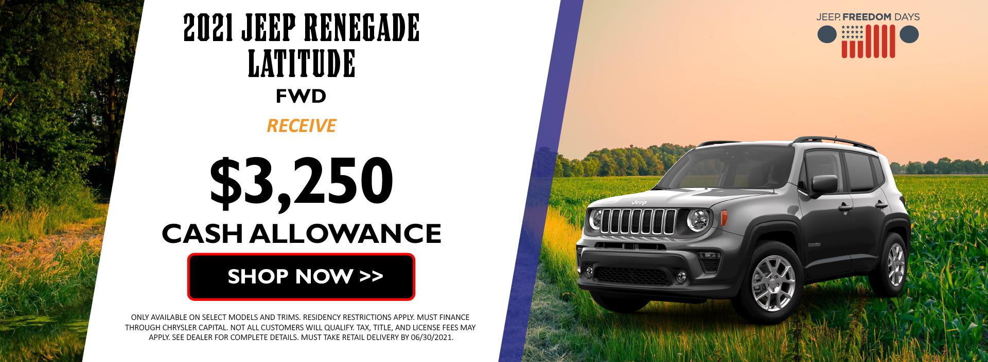 2021 Jeep Renegade June