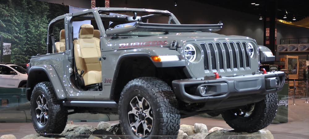 The new Jeep Wrangler Rubicon, as displayed at the 2019 Chicago Auto Show.