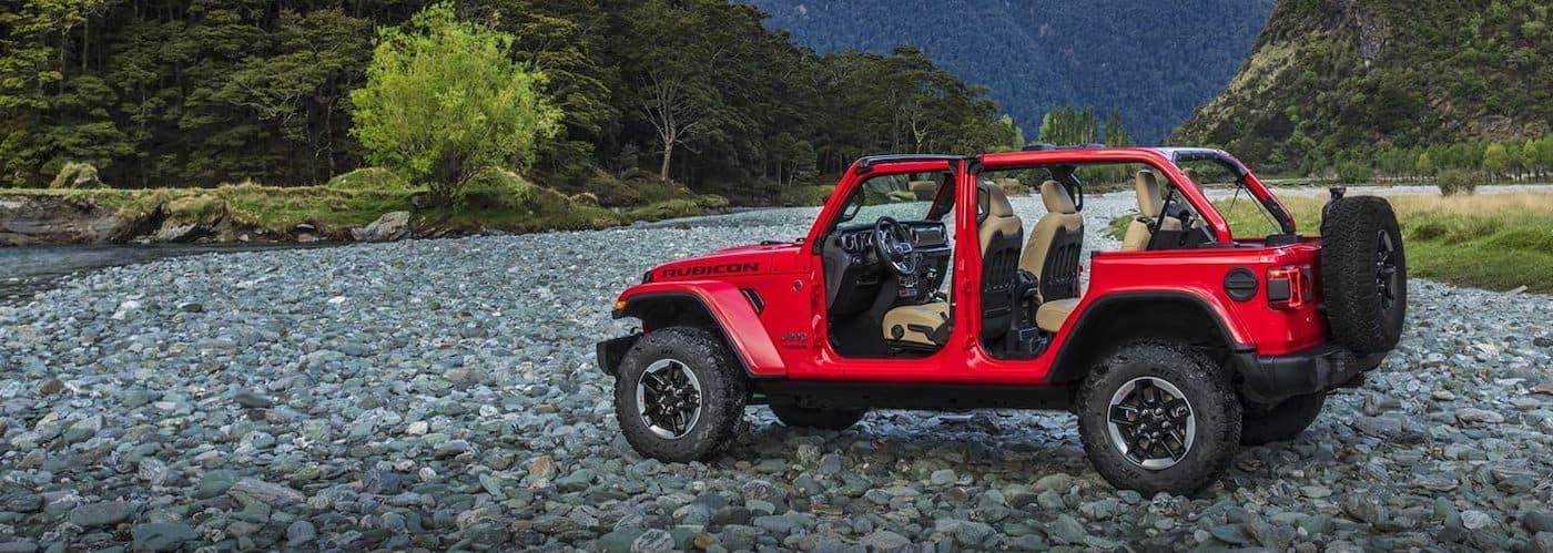 Jeep Wrangler with Doors Removed