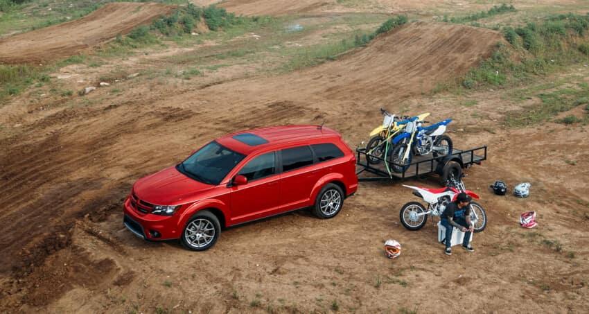 Dodge Journey towing motorbikes