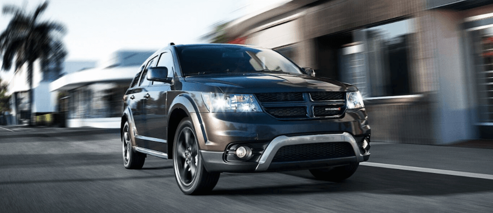 2020 Dodge Journey driving fast on city highway