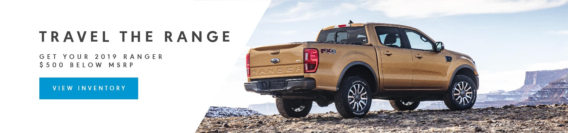 Order your Ranger today, $500 Off MSRP