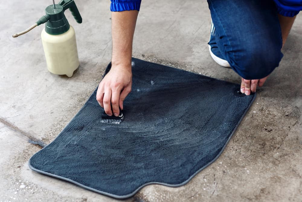 Cleaning Carpeted Floor Mats
