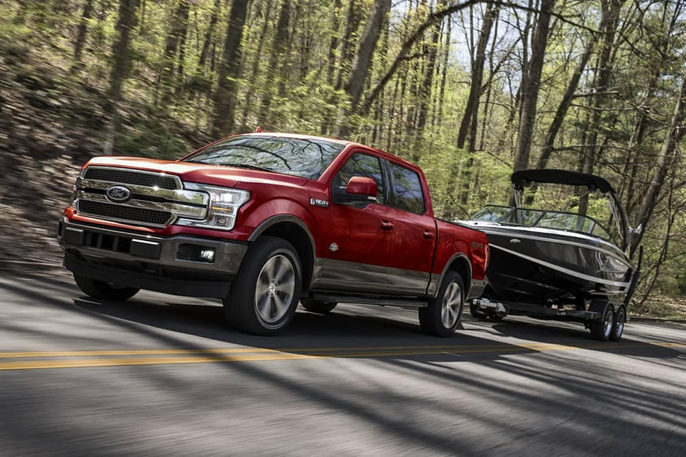 2020 Ford F-150 Towing Boat