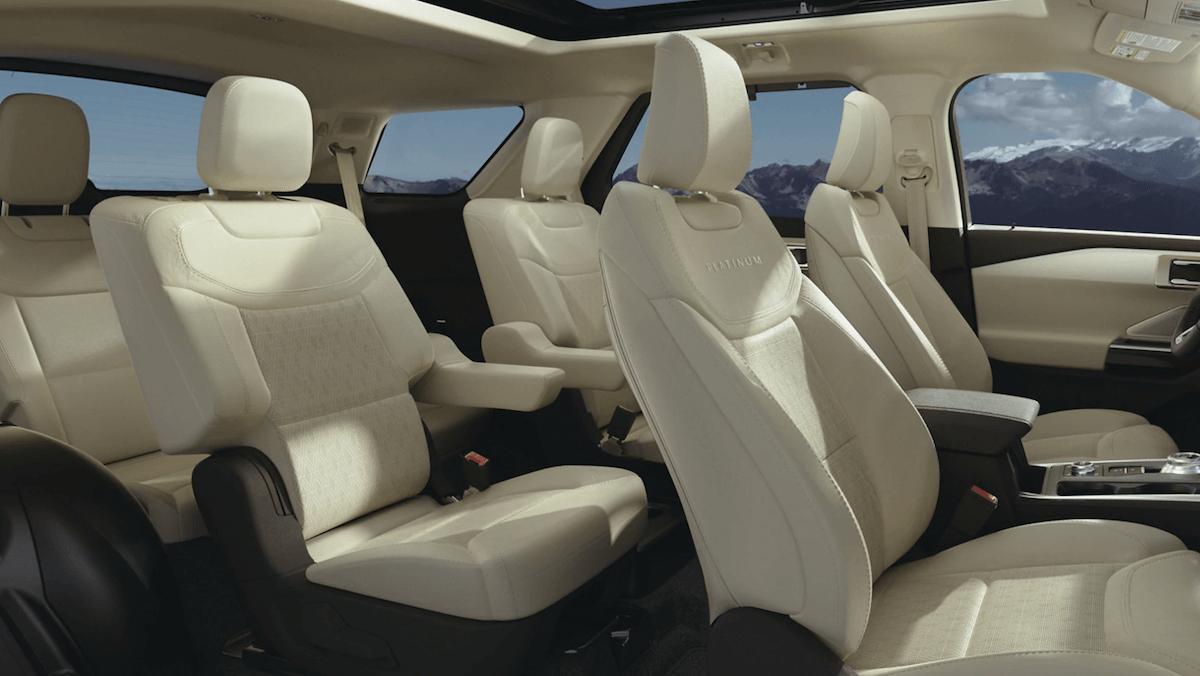 2021 Ford Explorer Interior Seating Banner