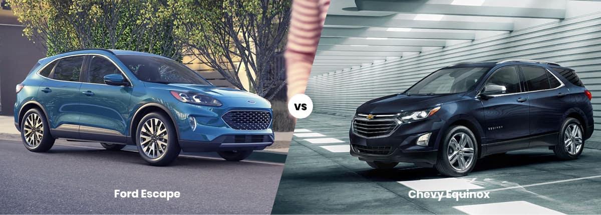 Ford Escape vs Chevy Equinox Comparison Banner