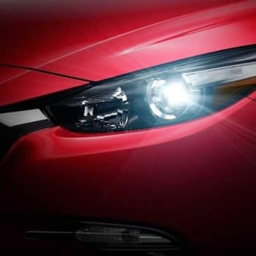 2018 Mazda3 Sedan headlight up close