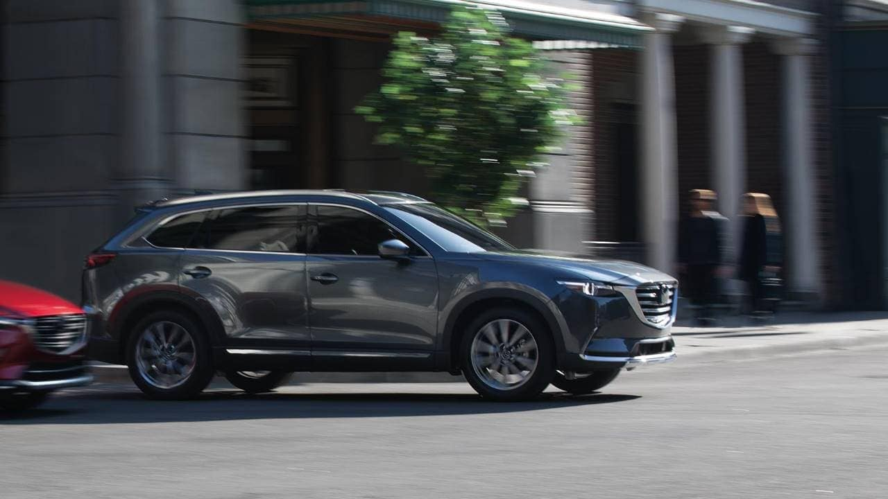 2019 Mazda CX-9 crossing the street