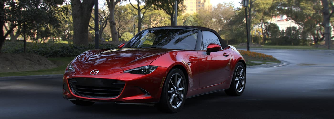 2019 Mazda Miata Parked Outside