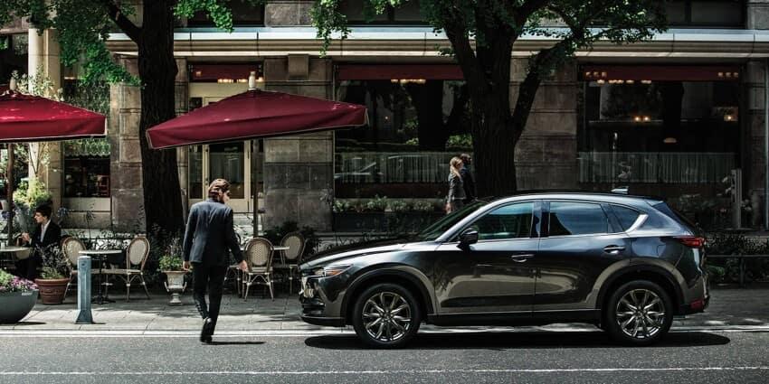 2020 Mazda CX-5 Parked Outside Cafe