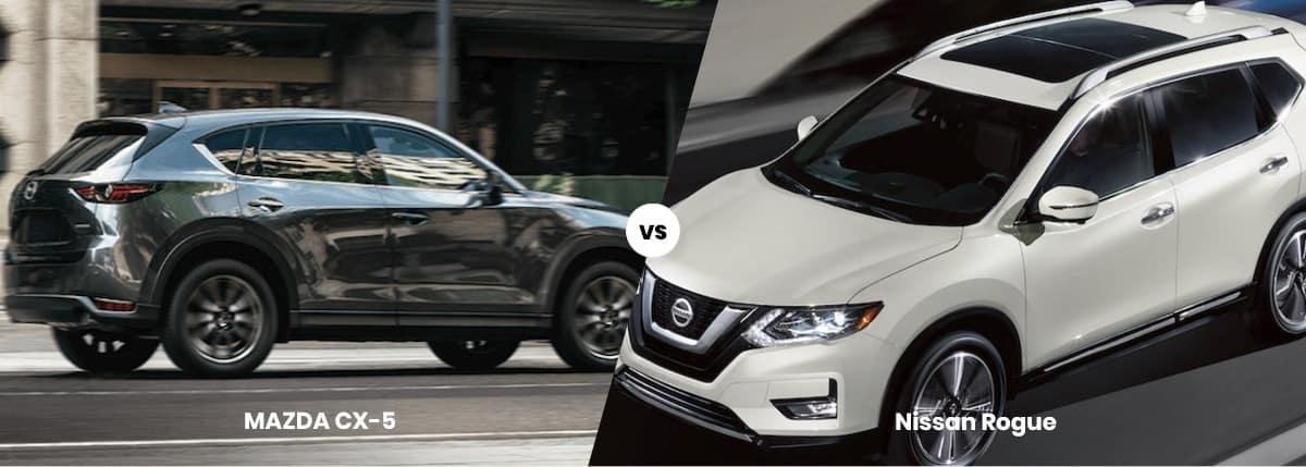 2020 Mazda CX-5 vs Nissan Rogue Comparison Banner