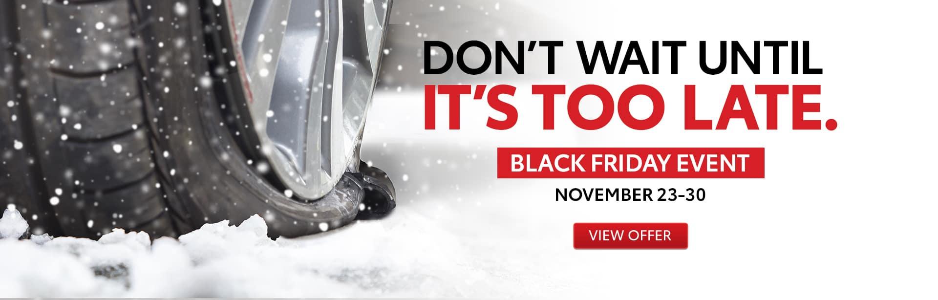 Black Friday Toyota Tires
