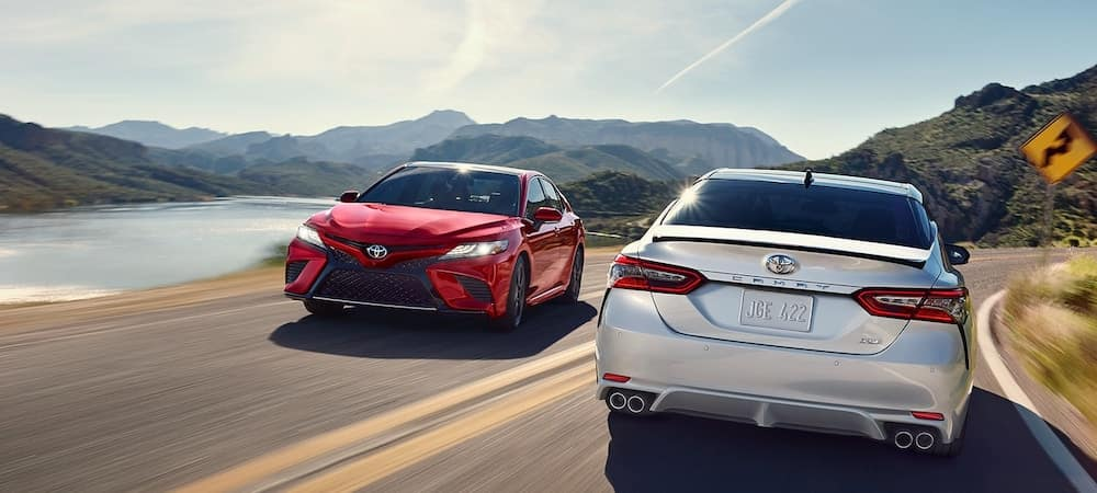 2019 Toyota Camrys on Highway