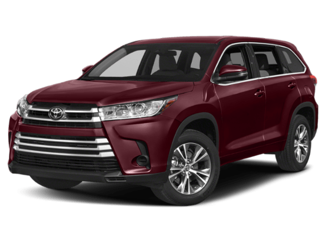 Red 2019 Toyota Highlander
