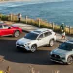 2019 Toyota RAV4 Models Parked Along Beach