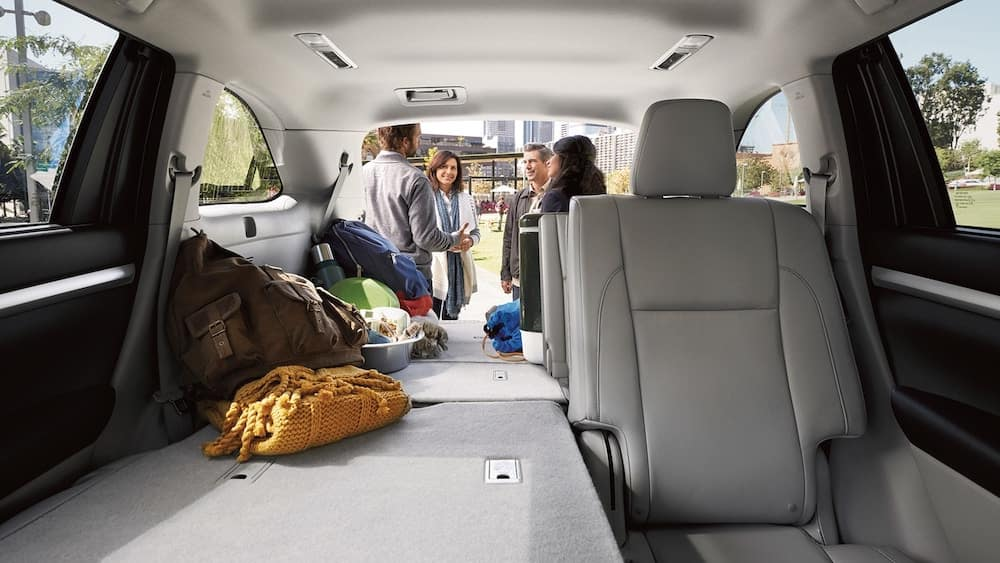 2019 Toyota Highlander Cargo Area with Seats Folded Down