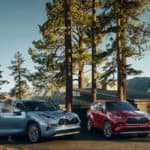 2020 Toyota Highlanders Parked in Forest