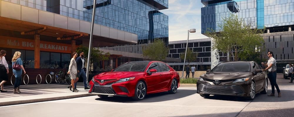 2020 Toyota Camry Models Parked