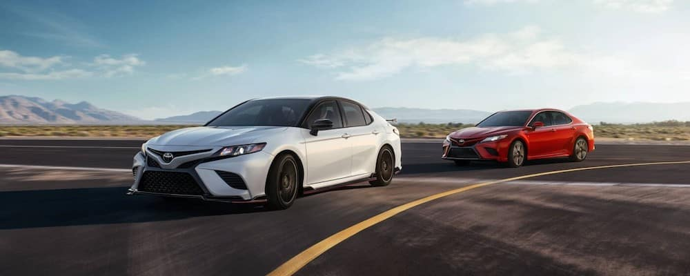 2020 Toyota Camry Models on Highway