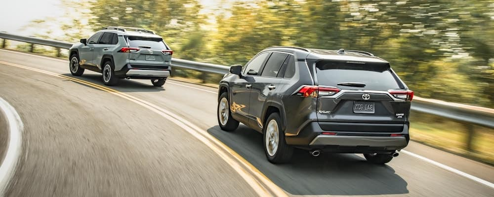 2020 Toyota RAV4 Models on Highway
