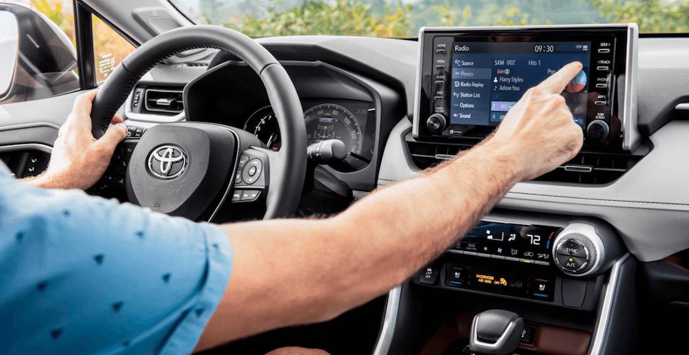 2021 Toyota RAV4 Interior Dashboard banner image
